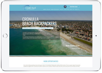 Hostel website design, Cronulla