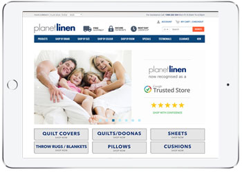 Linen E-commerce website design , Caringbah