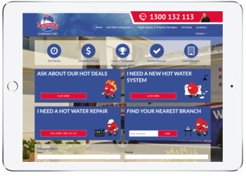 Hot water Service Website Design , Sydney