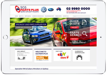 Web design for SGS part Plus, Sydney
