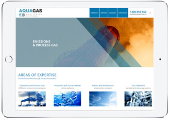 Website design for AquaGas, Brisbane, QLD