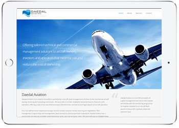 Web design for Deadal Aviation, Miranda