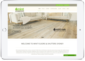 MintFloors website design with Wordpress, Caringbah