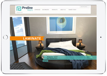 Web Design with Wordpress, Proline Floors, Kurnell
