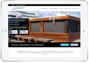 Roofing website for Slick Roofing, Caringbah