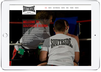 Wordpress web design for Southside Boxing, Caringbah