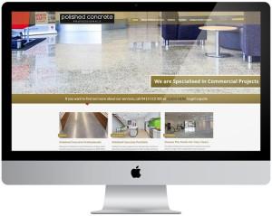 Wordpress website design, Polished Concrete, Sydney