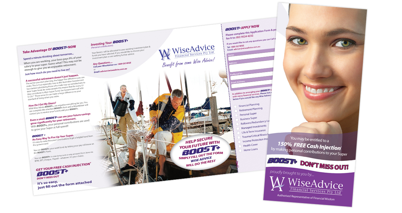 Branding: Flyers, Brochures, Catalogues For Wise Advice