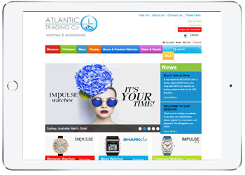 Shopping Cart web design for Atlantic Trading, Caringbah