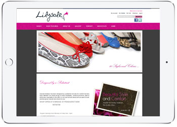 Ecommerce web design for Lilysole, Penshurst