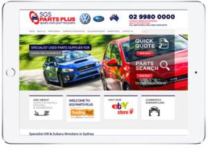 Web design for SGS part Plus, Sydney