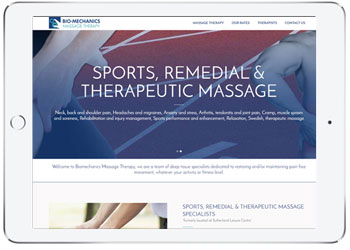 Massage website design, Loftus