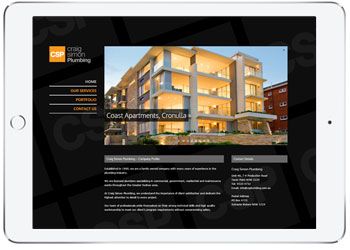 Responsive web design for Craig Simon, Cronulla