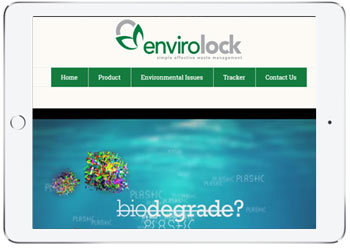 Website design for Envirolock, Cronulla