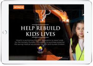 Auction web design for Hitachi , Australia
