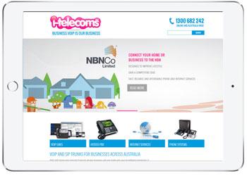 Telecom website design for I-telecoms, Sydney