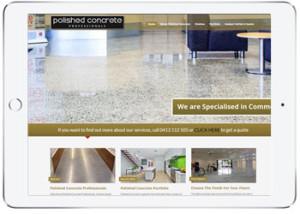 Wordpress website design, Polished Concrete Sydney