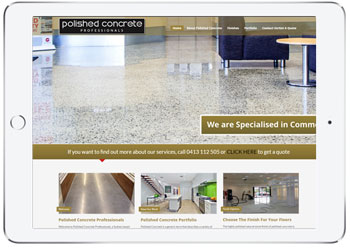 Wordpress website design, Polished Concrete Sydney