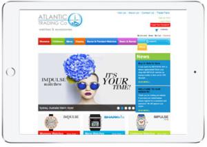 Shopping Cart web design for Atlantic Trading, Caringbah