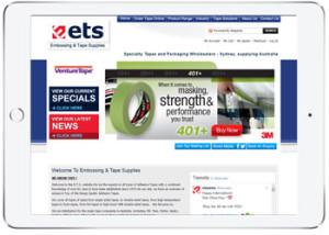 Magento E-commerce Design for ETS, Miranda