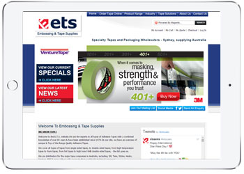 Magento E-commerce Design for ETS, Miranda