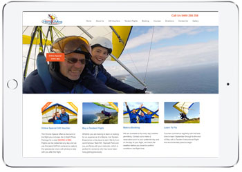 Woocmmerce wordpress ecommerce website for Sydney Hang Gliding