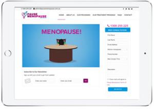 Wordpress website design for Pause Menopause