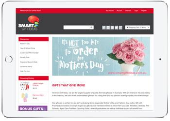 NETO shopping cart, e-commerce website for Smart Gift Ideas